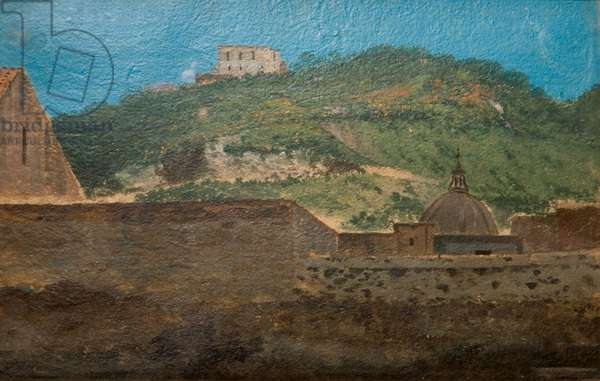 A Hilltop Near Naples, 1782 (oil on paper)