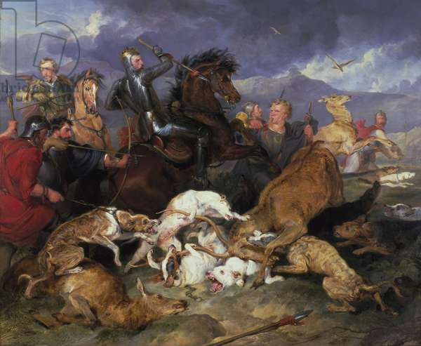 The Hunting of Chevy Chase, 1825-26 (oil on canvas)