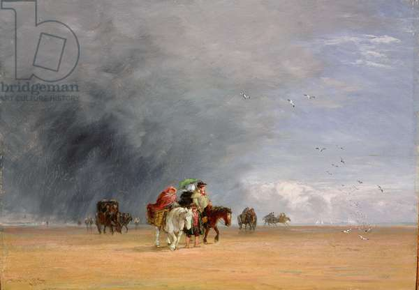 Crossing the Sands, 1848 (oil on panel)