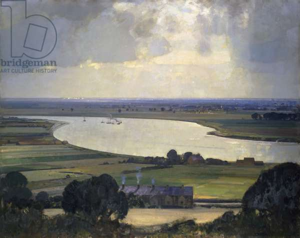 The Smug and Silver Trent, 1914-24  (oil on canvas)