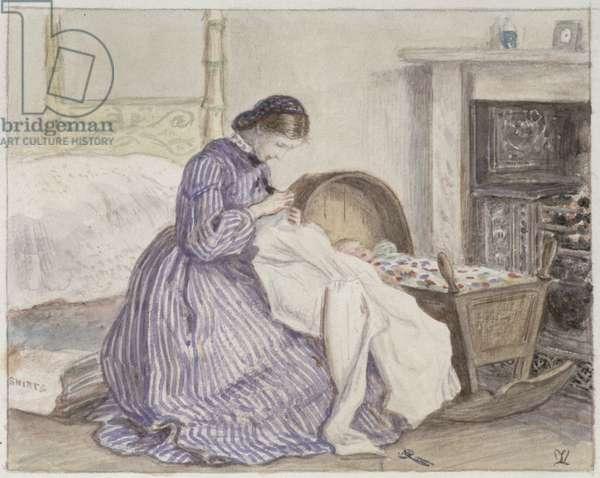 Stewart Harrison's The Iceberg - The Seamstress, 1860 (w/c on paper)
