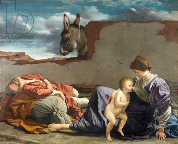 Rest on the Flight into Egypt, 1615-1621 (oil on canvas)