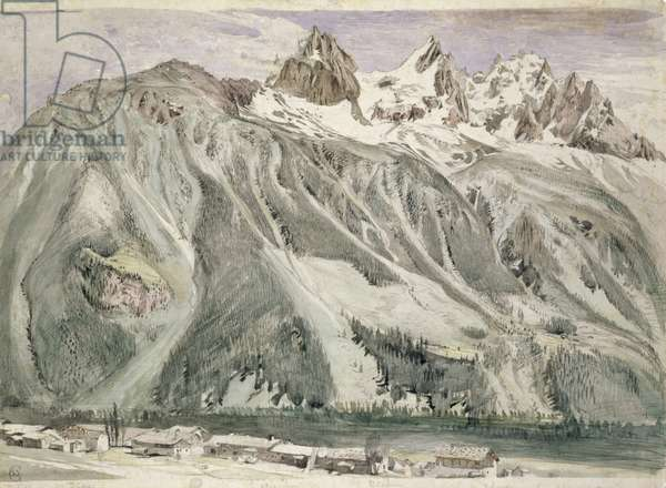 Aiguilles of Chamonix, 1849 (w/c on paper)