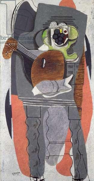 The Table, 1930 (oil & sand on canvas)