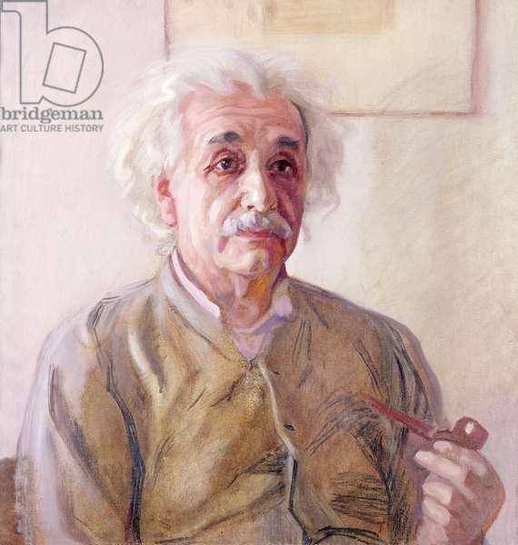 Portrait of Albert Einstein (1879-1955)