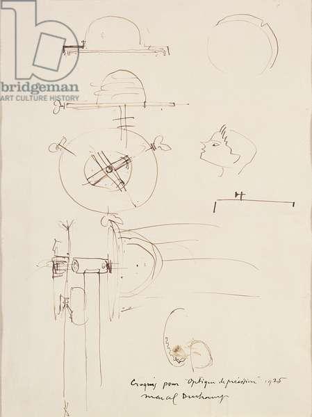 Sketch for Optique de Precision, 1925 (ink on paper)