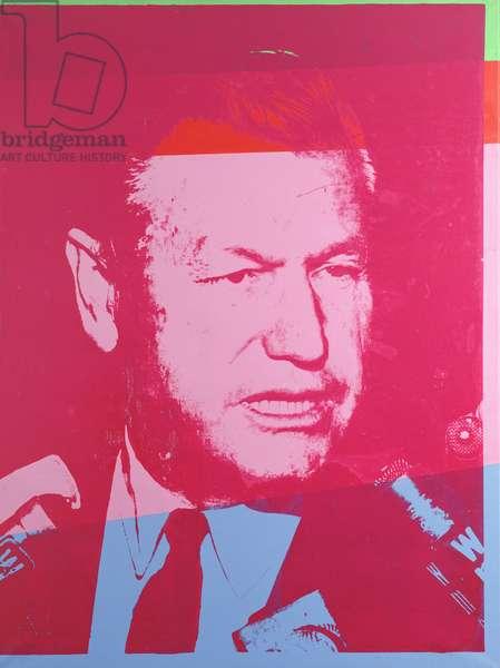 Portrait of Nelson Aldrich Rockefeller (silkscreen)