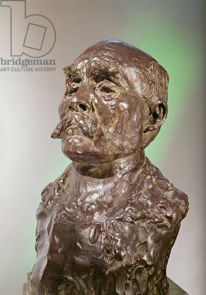 Bust of Georges Clemenceau, 1911 (bronze)