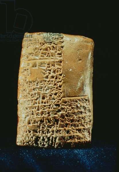 Cuneiform Tablet (clay)