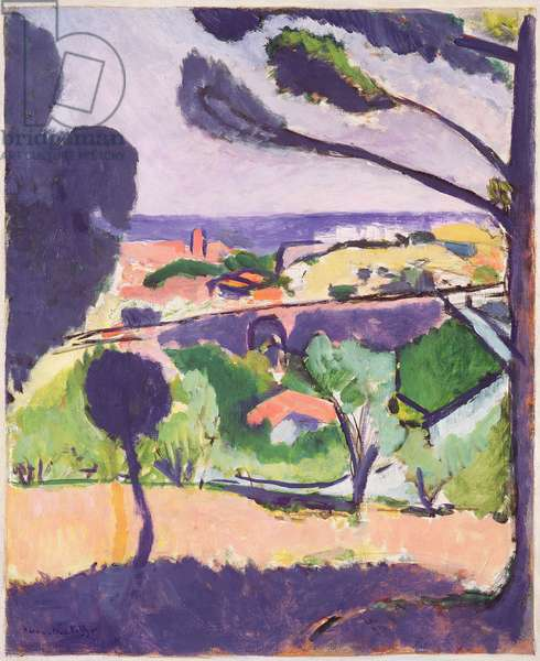 View of Collioure and the Sea, 1911 (oil on canvas)