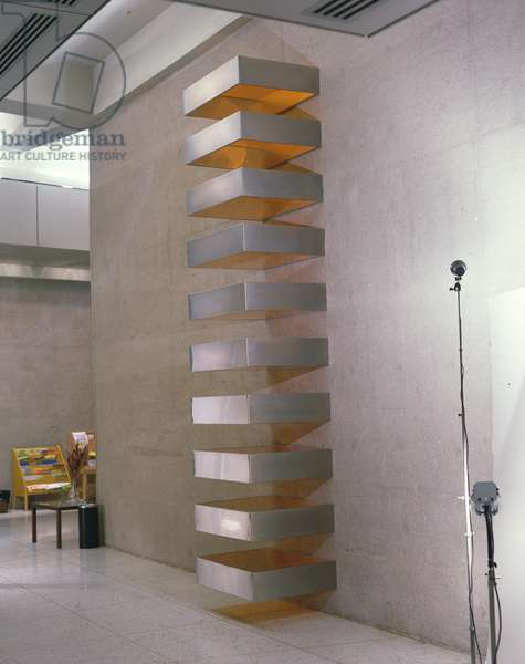 Untitled, 1968 (stainless steel & amber Plexiglas)