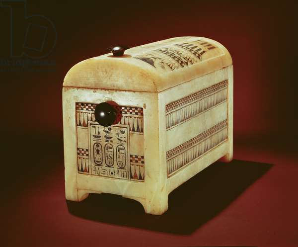 Casket, from the Tomb of Tutankhamun, New Kingdom (painted alabaster)