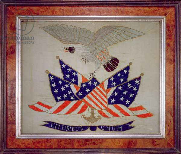 Seal of the United States of America, c.1840 (embroidery)