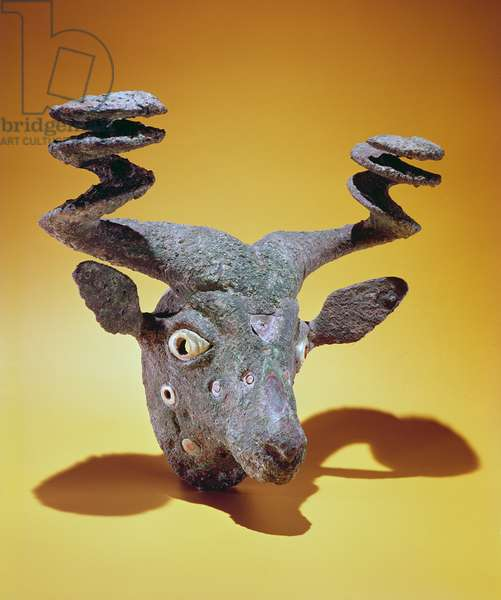 Head of a Bull, from Iraq, c.2000 BC (bronze & shell)