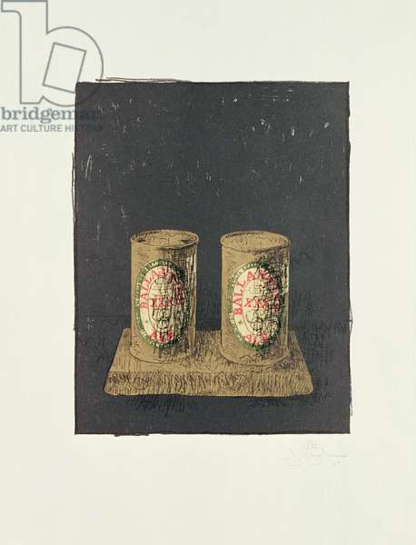 Ale Cans, 1964 (w/c on paper)