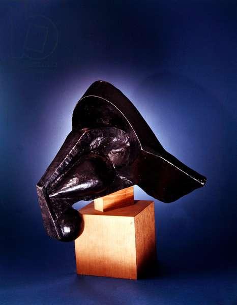 Head of a Horse, 1914 (cast c.1960) (bronze)