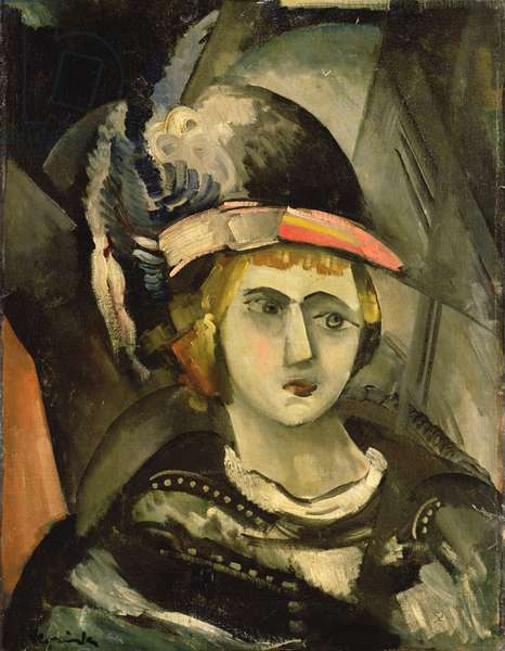 Woman in a Hat (oil on canvas)