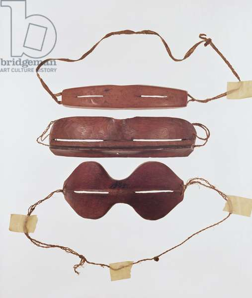 Inuit sun/snow 'glasses' (leather)