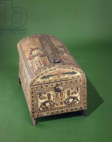 Tutankhamun Chest, New Kingdom, c.1340 BC (painted wood)