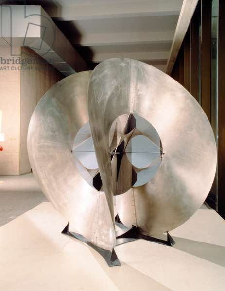 Construction in Space: Spheric Theme, 1969 (stainless & cor-ten steel)