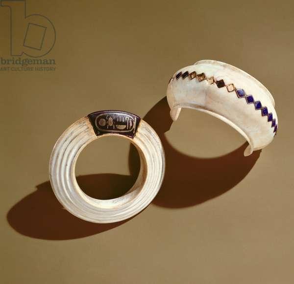 Two bracelets, from the Tomb of Tutankhamun, New Kingdom