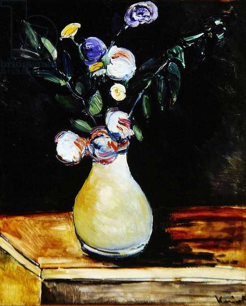 Flowers in a Vase, 1908 (oil on canvas)