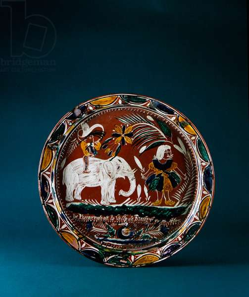 Plate, late 1930s (glazed earthenware)