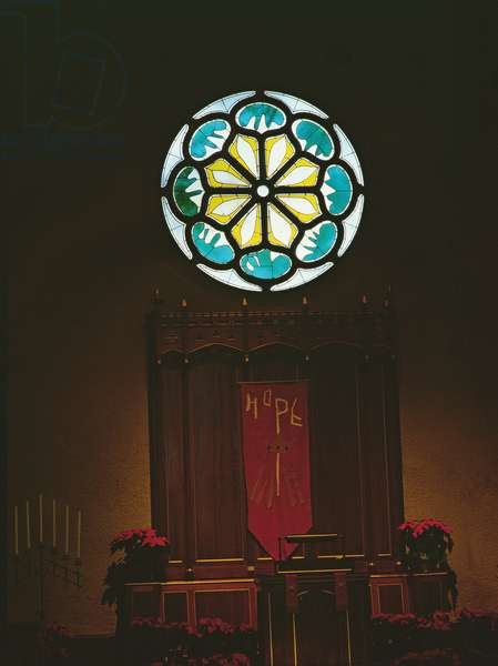 The Abby Aldrich Rockefeller Memorial Window, 1954 (stained glass with lead mullions)
