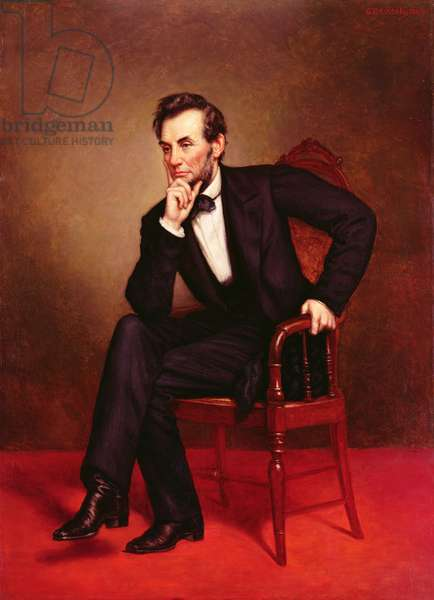 Portrait of Abraham Lincoln (oil on canvas)