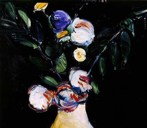 Flowers in a Vase, 1908 (oil on canvas) (detail of 340129)