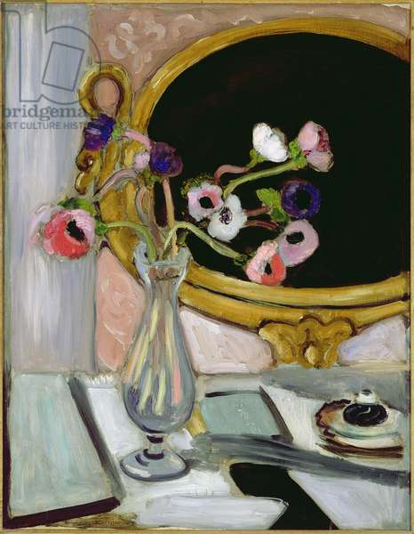 Anemone and Mirror, 1920 (oil on canvas)