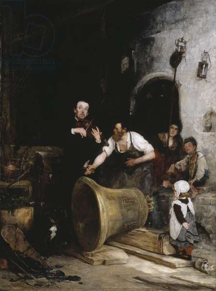Toning the Bell, 1874 (oil on canvas)