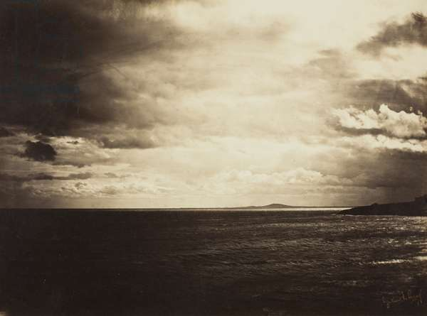 Cloudy Sky, Mediterranean Sea, 1857 (albumen print)