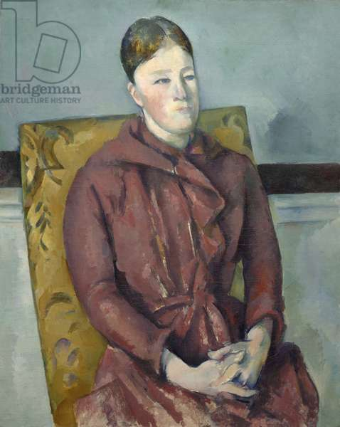 Madame Cézanne in a Yellow Chair, 1888-90 (oil on canvas)
