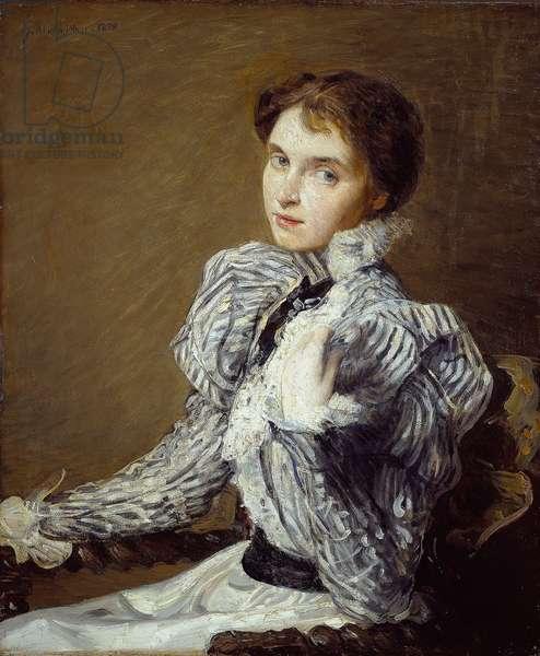 The Grey Bodice, 1898 (oil on canvas)