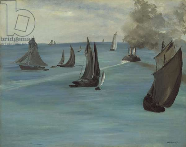 Steamboat Leaving Boulogne, 1864 (oil on canvas)