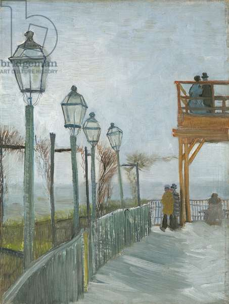 Terrace and Observation Deck at the Moulin de Blute-Fin, Montmartre, early 1887 (oil on canvas, mounted on pressboard)