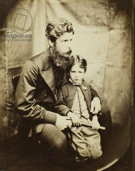 Rev. James Langton Clark and son Charles (Robin), 1864 (albumen silver print)