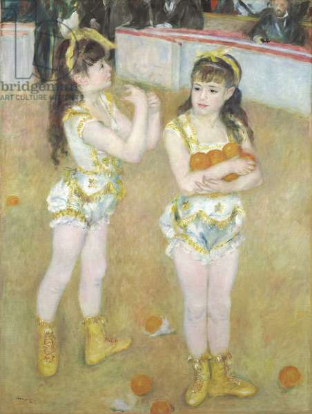 Acrobats at the Cirque Fernando, Francisca and Angelina Wartenberg, 1879 (oil on canvas)