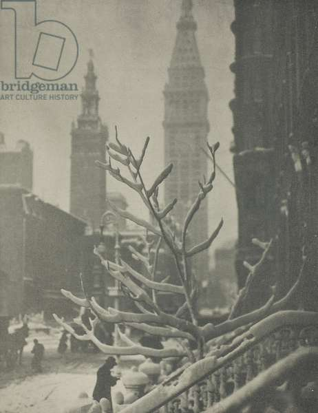 Two Towers, New York, 1911 (photogravure)