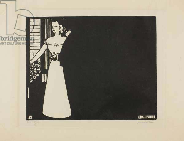 Money, plate five from 'Intimacies', 1898 (woodcut)