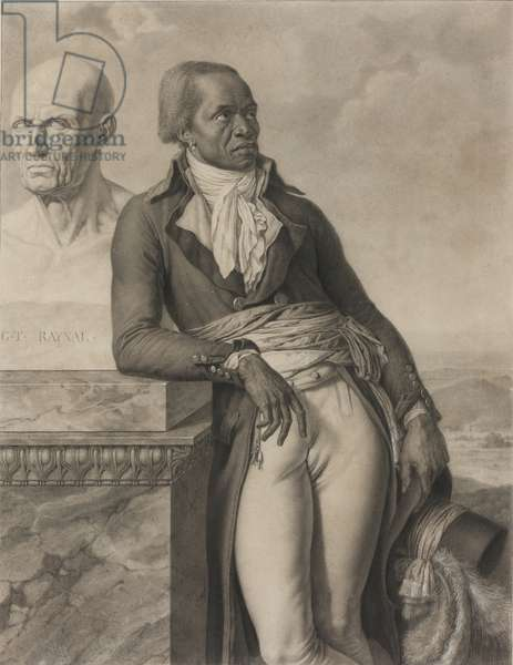 Jean-Baptiste Belley, c. 1797 (Black chalk, with stumping, and traces of pen and black ink, heightened with touches of opaque white, on ivory wove paper)