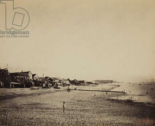 The Beach at Sainte-Adresse, 1856-57 (albumen print)