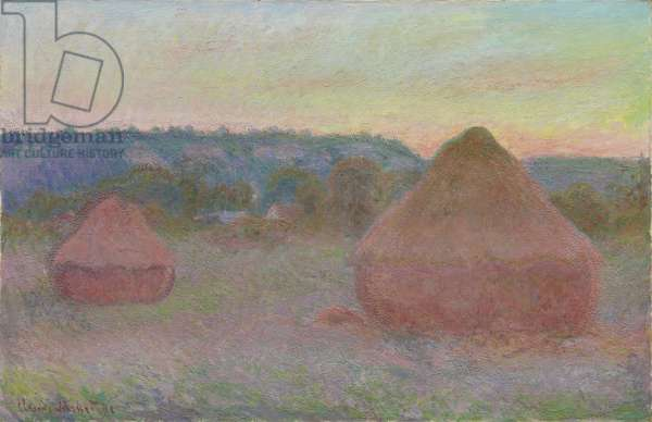 Stacks of Wheat (End of Day, Autumn), 1890-91 (oil on canvas)