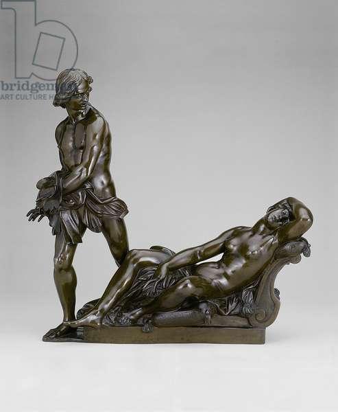 Bireno and Olimpia, 1640-50 (bronze, traces of red-gold lacquer)