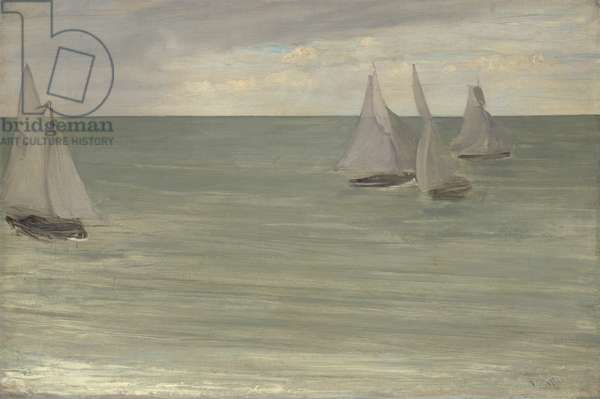 Trouville (Grey and Green, the Silver Sea), 1865 (oil on canvas)