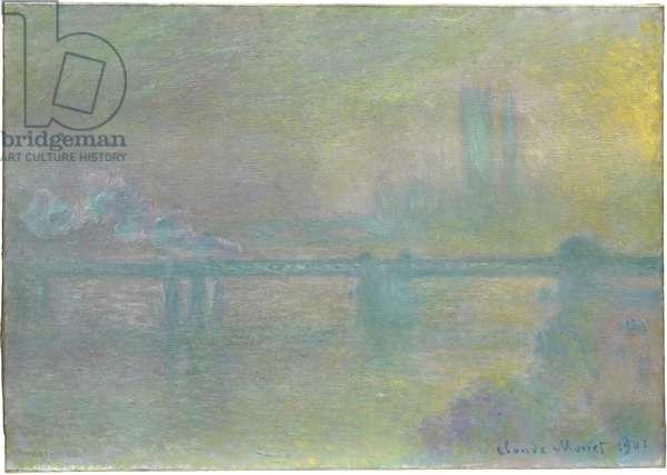 Charing Cross Bridge, London, 1901 (oil on canvas)