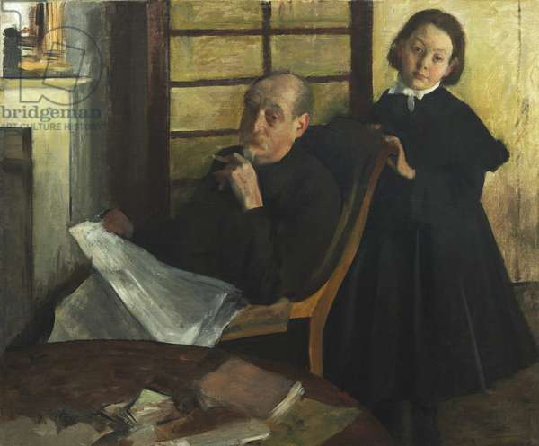 Henri Degas and His Niece Lucie Degas (The Artist's Uncle and Cousin), 1875-76 (oil on canvas)