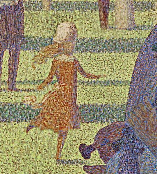 A Sunday on La Grande Jatte, 1884-86 (oil on canvas) (detail of 2967770)