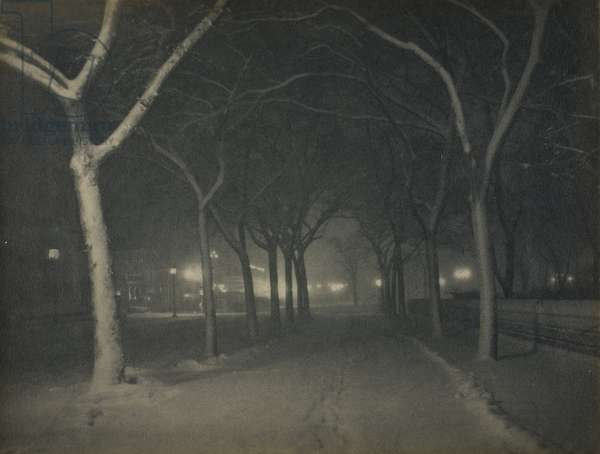 An Icy Night, New York, 1898 (carbon print)